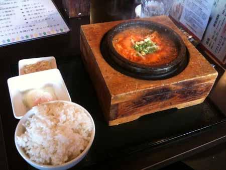 ユッケジャン鍋定食